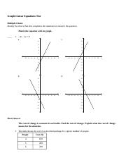 Graphing Linear Equations Test.rtf