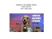 Organic Lab Safety Rules
