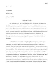 Grapes of Wrath essay