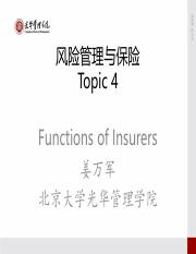 Risk Management and Insurance- topic-4-2015