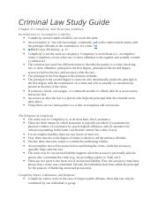Criminal Law Ch6 Study Guide