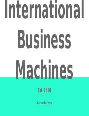 International Business Machines - Powerpoint