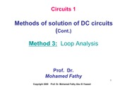 Lecture_3_Loop analysis for DC circuits