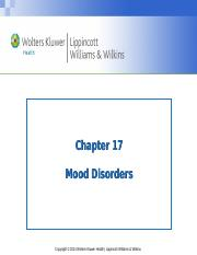 PPT_Chapter_17 Depression- MDD, postpartum, situational Bb echo(1)