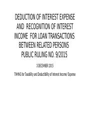 DEDUCTION_OF_INTEREST_EXPENSE_AND_RECOGNITION_OF_INTEREST