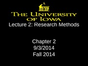 Lecture 2 - Research Methods (1)