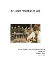 INFLUENZA PANDEMIC OF 1918.docx