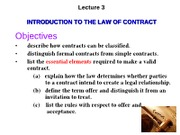 Business Law  -Lecture 3