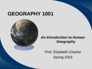 Intro to Geography1001