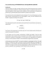 Chemistry - Equilibrium Constant pdf - CoreLab(Chemistry