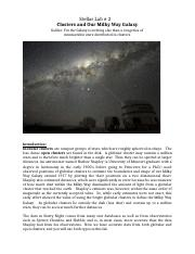 Clusters and Our Milky Way Galaxy Spring 2013(1).docx