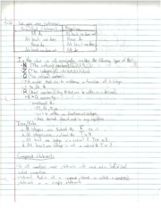 Compound Statement notes