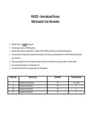 BUS322 MID TEST INFORMATION