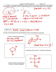 Chem 3A - Spring 2009 - Frechet - Practice Exam 2 Answers