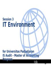 3 Audit Sistem Informasi - IT Environment