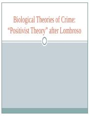 1. Cesare Lombroso- Biological Theory_