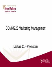 Lecture 11 _ Promotion