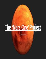 The 'Mars One' Project