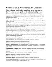 Criminal Trial Procedures