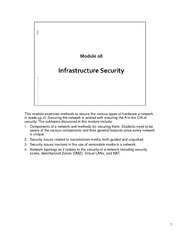 CSCI 650 - Module08-Infrastructure Security - Lecture Material