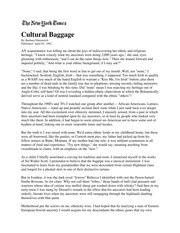 Cultural baggage barbara ehrenreich essay topics for english research papers