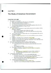 AP Government Lecture 1 Notes