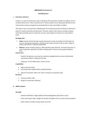 BSBMKG609 Assessment 2.docx