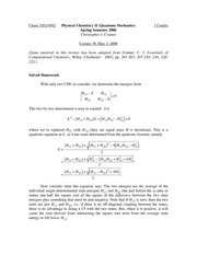 Lecture 38 on Quantum Mechanics