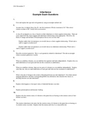 EECS 3411 Inheritance Questions Exam