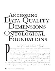 Anchoring Data Quality Dimensions in Ontological Foundations