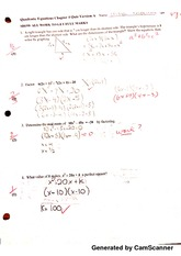 quadratic equations quiz