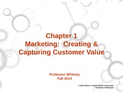 ch. 1 Marketing  Creating and Capturing Customer Value (Canvas)