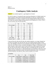 mss hw - contingency tables