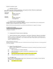human resource management midterm exam