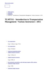 TLMT311 - Introduction to Transportation Management : Various Instructors : 2015 - LibGuides at Amer