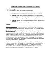 Revolutionary War - Study Guide
