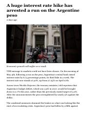 A huge interest rate hike has arrested a run on the Argentine peso - Argentina.pdf
