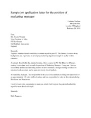 1 pages sample job application letter for the position of - Resume Acknowledgement Letter