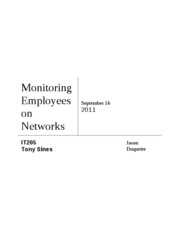 Monitoring Employees on Networksweek4
