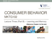 CB(MKTG102) - Learning and Memory (L3-B)