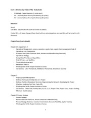 Fall 2015 - Study Guide for Exam 1