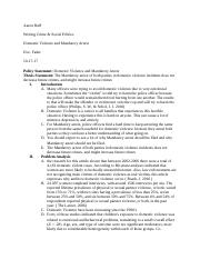 Domestic Violance and Mandatory arrest Outline.docx