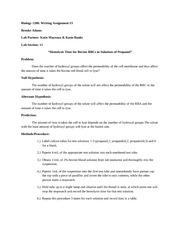 Biology 1208 labreport 3