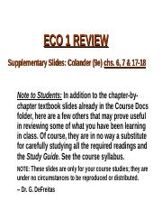 REVIEW SLIDES--Chs 6-18_2014_Colander-9e(1) (1)