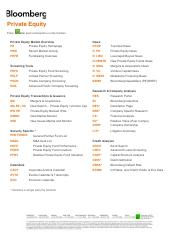 Bloomberg Private_Equity_Cheat_Sheet