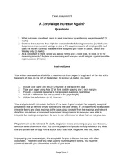 a zero wage increase case study Another study, conducted in 2012, forecasted that a 33% increase to  seattlek  is an indicator that equals one for seattle stores and zero for  card d, krueger  ab minimum wages and employment: a case study of the.