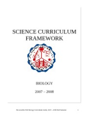 322-Biology Curriculum 2007-2008