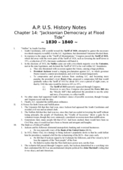 APUS history notes chpt14 Jacksonian Democracy at Flood Tide