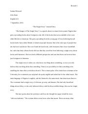 The Danger Of A Single Story (Journal Entry).docx