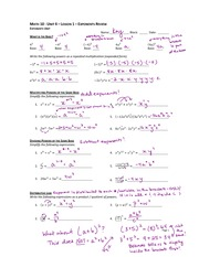 Exponents Review Note